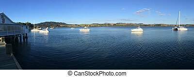 Panoramic landscape view of Mangonui Northland New Zealand