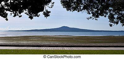 Panoramic Landscape view of Rangitoto Island
