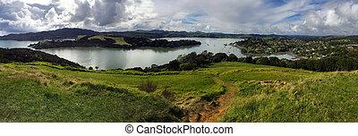 Panoramic landscape view of Taipa-Mangonui