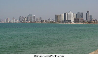 Panoramic landscape view of Tel Aviv Israel