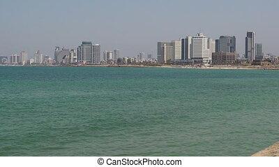 Panoramic landscape view of Tel Aviv Israel - Panoramic...
