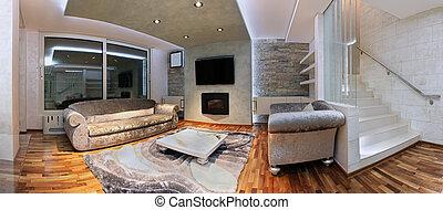 Panoramic living room