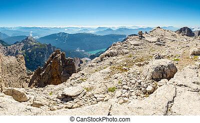 Panoramic mountain view.