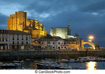 Panoramic of Castro Urdiales, Cantabria, Spain