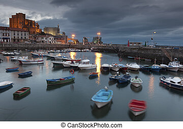 Panoramic of Castro Urdiales, Cantabria, Spain