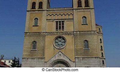 Panoramic of Catholic Church.