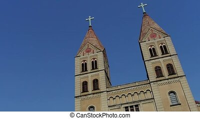 Panoramic of Catholic Church. - Panoramic of Qingdao...