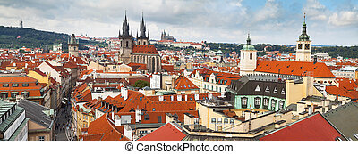 Panoramic of Prague