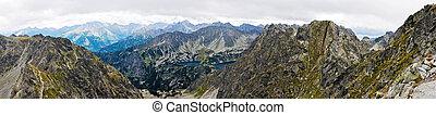 Panoramic of Tatras mountain