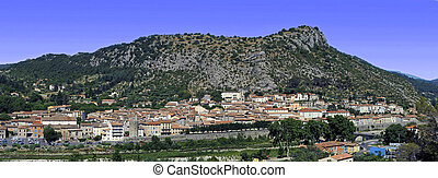 panoramic of the town of Anduze