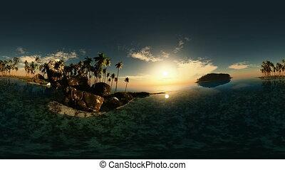 panoramic of tropical beach