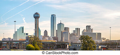Panoramic overview of downtown Dallas