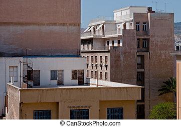 Panoramic photo of the city of Piraeus