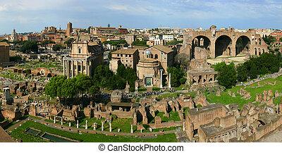 Panoramic roman ruins - Panoramic view on a roman ruin site