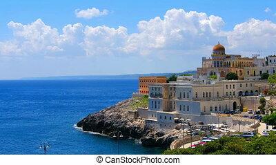 panoramic Salento landscape Apulia Santa Cesarea Terme...