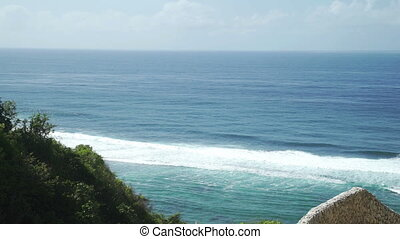 Panoramic sea view at summer sunny day at Indonesia Ungasan...