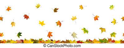 Panoramic seamless autumn background