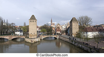 panoramic Strasbourg scenery - scenery in Strasbourg with...