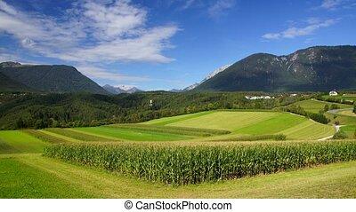 Alpine landscape - Panoramic time-lapse of Alpine landscape...