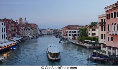 Venice canal - Panoramic time-lapse of Venice canal, Italy