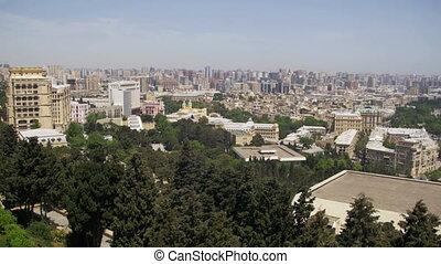 Panoramic Vew from Above to the City of Baku, Azerbaijan
