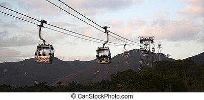 Panoramic view at a cableway