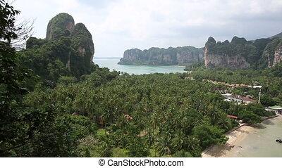 panoramic view at sea shore