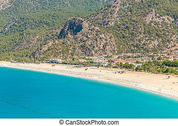 Panoramic view Belcekiz Beach. Oludeniz, Blue Lagoon Fethiye