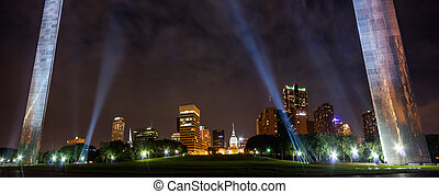 City of St. Louis skyline at night - Panoramic view City of...