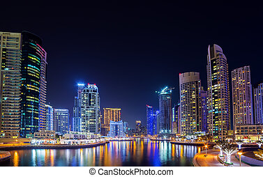 Panoramic view Dubai marina