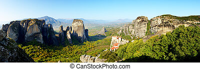 Panoramic view from above on the Rousannou - St. Barbara...