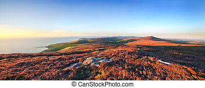 Panoramic view from Cronk ny Arrey Laa - Isle of Man - View...