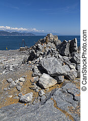Panoramic view from Palmaria island - A landscape from the...