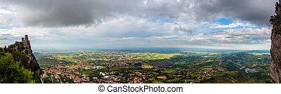 Panoramic view from San Marino