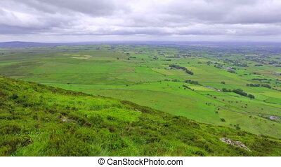 panoramic view from Slemish Mountain, County Antrim,...