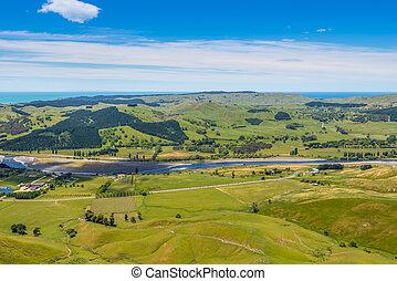 Panoramic view from Te Mata Peak - View from Te Mata Peak to...
