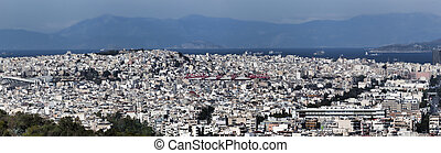 Panoramic view from the Acropolis of Athens