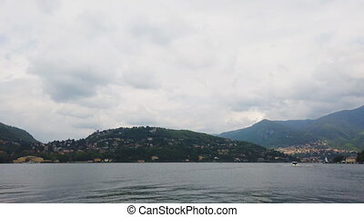 Panoramic view from the Como lake.