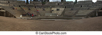 Panoramic view from the roman theatre stage