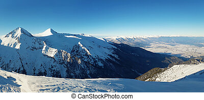 ridge - Panoramic view from the top of Pirin mountains to...