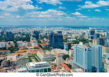Panoramic view in Ho Chi Minh City