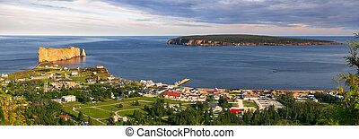 Panoramic view in Perce Quebec