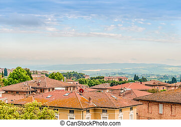 Panoramic view in Siena