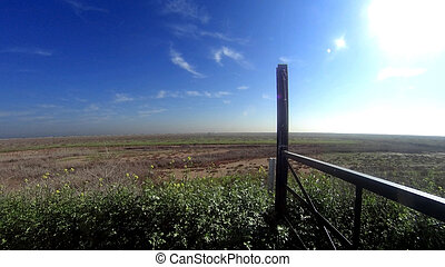 Panoramic view of a countryside landscape
