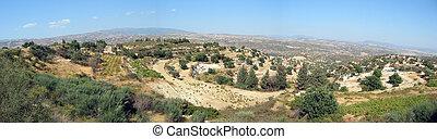 Panoramic view of a typical Cyprian landscape
