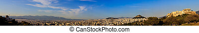 Panoramic view of Acropolis and Lycabettus - Athens, Greece