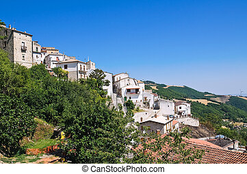 Panoramic view of Alberona. Puglia. Italy.