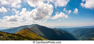 panoramic view of alpine mountain ridges. gorgeous landscape...