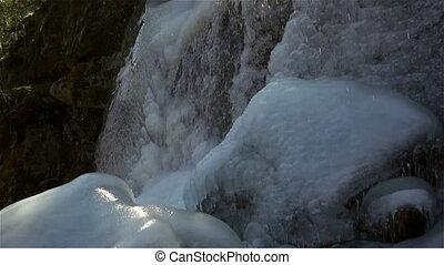 Panoramic view of amazing waterfall view. waterfalls...