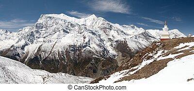 Panoramic view of Annapurna range